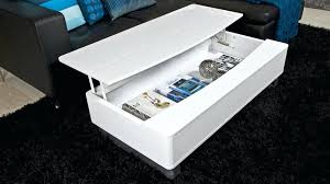 modern white coffee table contemporary storage design high gloss with black glass top