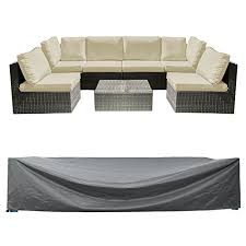 patio sectional sofa set cover outdoor furniture covers water resistant outdoor table and chair covers durable heavy duty 126 l x 64 w x 29 h wantitall