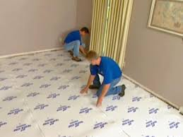 how to install underlayment and laminate flooring
