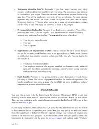 California Workers Compensation Permanent Disability Money Chart Time Of Hire Pamphlet