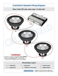subwoofer wiring diagrams how to wire your subs those subs can take an amp twice as powerful if you want