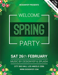 Green Party Flyer 45 Premium Free Fresh Spring Psd Flyer Templates Free