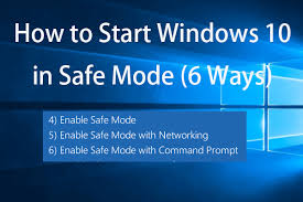windows 10 safe mode how to start windows 10 in safe mode while booting 6 ways