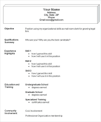 Format For Simple Resume Simple Functional Resume Template Format Of