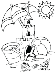 summer fun coloring pages beach scene printable for kids page worksheets math 4th grade