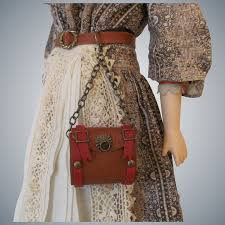 leather claine style hip purse for french fashion doll amy s little luxuries ruby lane