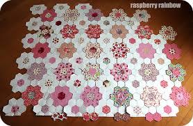 Raspberry Rainbow: The Pink Hexie Quilt, an update. & April 2013 Adamdwight.com