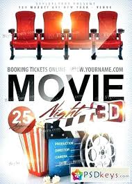 Movie Brochure Template Poster Night Free Flyer Word Full