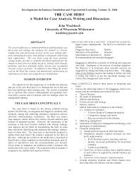 Business Brief Example Business Law Brief Sample