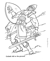 Small Picture Goliath and David Bible coloring page to print Bible coloring