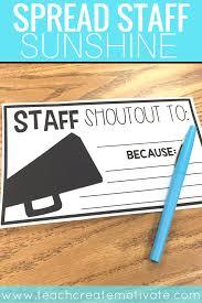 Staff Shout Outs Spread School Sunshine Teach Create