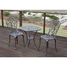 bistro sets patio dining furniture the home depot cafe table set faustina bronze piece cast