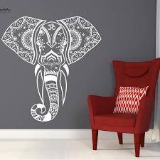 <b>YOYOYU Vinyl Wall Sticker</b> Elephant Mandala Pattern Removebale ...