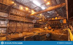 Difference Between Heavy Industry And Light Industry Panoramic View Of The Constructions Inside The Manufacturing