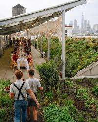 brooklyn grange is a massive rooftop farm that overlooks the nyc skyline while it s not a bar you can out the space and throw quite a cocktail filled