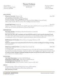 Resume Template Undergraduate - Resume Sample