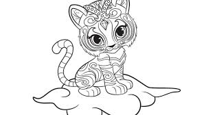 Small Picture Vibrant Ideas Shimmer And Shine Coloring Pages 9 Beautiful Shimmer