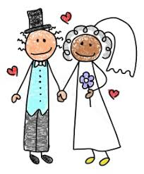 Image result for bride and groom stick figure