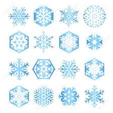 blue snowflakes white background. Exellent Snowflakes Collection Of 16 Blue Snowflakes On White Background Stock Vector  32948859 On Blue Snowflakes White Background S