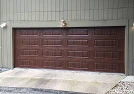amarr heritage garage doors. New Install: Amarr Heritage Walnut Woodgrain Long Panel Garage Door Doors Y