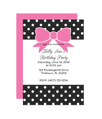 Polka Dot Invitations Polka Dot Bow Party Invitation Chicfetti