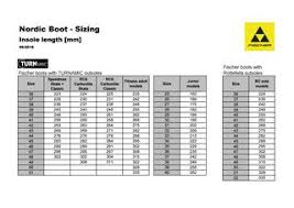 Fischer Size Chart Nordic Boot Sizing By Fischer Sports Gmbh Issuu
