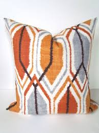 24x24 decorative pillows. Wonderful Pillows DECORATIVE Throw Pillows 24x24 Copper Orange Gray Pillow  Grey Covers Modern Geometric Brown Home And Living On Etsy 2495 Intended Decorative
