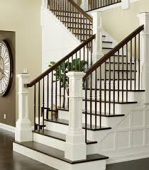 Traditional White and Dark Wood Staircases