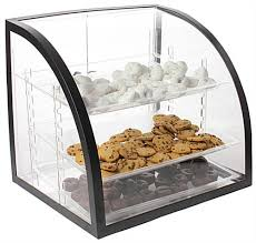 Bakery Display Stands Bakery Display Case Curved Acrylic Bin W Trays Rear Doors 6