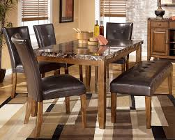dining table chairs leather. ashley furniture kitchen chairs dining room sets discontinued buttoned black leather bench table t