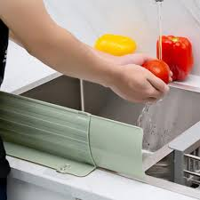 Kitchen Sink Water Splash Guards Impermeable Sink Shelf Organizer