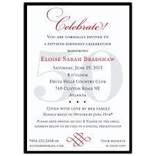 program for 50th birthday celebration classic 50th birthday celebrate party invitations paperstyle