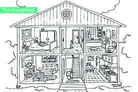 Gingerbread House Coloring Pages House Color Page Free Download