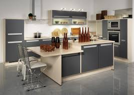 Two Level Kitchen Island Kitchen Amazing Grey Modern Nice L Shape Kitchen Cabinet Nice Two