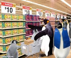 normal walmart shoppers. Simple Shoppers Penguin Walmart Shoppers For Normal M