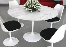Tulip Table Designer Tulip Table With Mable Top 1956 Tulip Round Dining Table