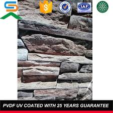 uv coating whole faux stone wall panel