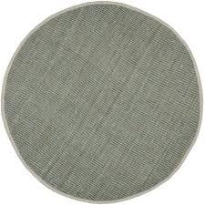 safavieh natural fiber gray 9 ft x 9 ft round area rug