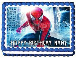 Spiderman Edible Cake Topper Image Party Decoration 650 Picclick