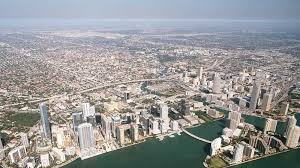 an aerial view of the miami area
