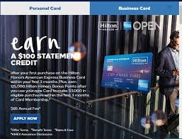 Hilton Honors American Express Business Card 125000 Point Offer