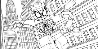 Lego Spiderman Coloring Pages Color Bros