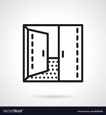 open double doors. Open Double Door Simple Line Icon Vector Image Doors O