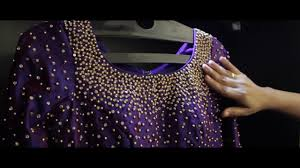 Beads Design Ideas Clothes Violet Gown With Bead Work Embroidery