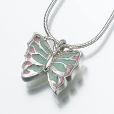 sterling silver erfly pendant with enameled wings csnh at need