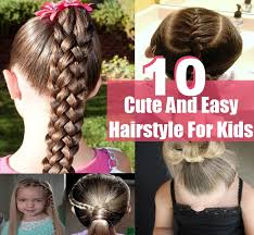 10 simple sweet cute and easy hairstyle for kids