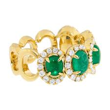 Colombian Ring Size Chart Colombian Emerald Cabochon Ring Emeralds International Llc