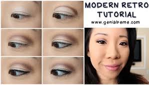 free 1960s mod makeup tutorial