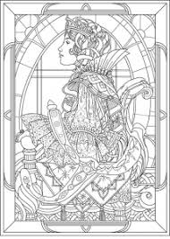 Small Picture Art nouveau Coloring pages for adults JustColor