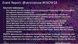 event report summary for servicenow knowledge 2018